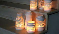 Resultado de imagem para decoração com vidros e velas