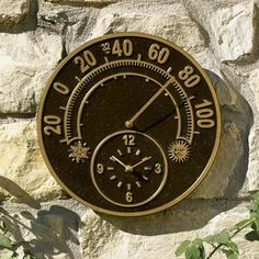 Outdoor Thermometer/Clock