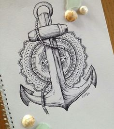 Finished anchor-mandala design by @17kianart71 Sorry for inactivity it's…