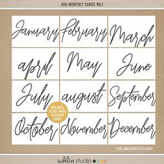 One of the easiest ways to add continuity to your Project Life pages is to pick one consistent item to date your spreads. Take a look at the 4 x 6 Monthly Cards or 2018 Calendar Cards! Pop them into your favorite pocket style page, or layer them on traditional layouts for an easy way to document your week or month.