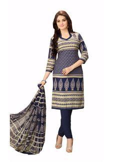 Latest Trendy Fully Printed Cotton Salwar Suit - 7 Days Easy Return, Buy Designer salwar suit, Embroidery salwar suit, Party Wear salwar kameez, etc..
