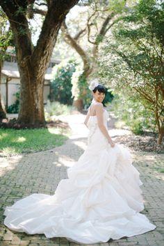 Wedding dress: Bellissima Bridal - South Florida Wedding at Flamingo Gardens from Shea Christine Photography
