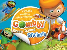 Gombby Stickers, the #App where the little ones can #create and #share their own #stories.  Available for #FREE on the #iTunes store