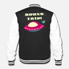 Crazy Spaceship-Trip College-Sweatjacke Pullover, Unisex, Spaceship, College, Design, Fashion, Women Accessories, Monochrome, Jackets