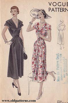 Vintage Clothing Pattern | Vogue 6830