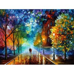 Large Wall Art - Freshness Of Cold - Large Oil Painting Painting On Canvas By Leonid Afremov. Big Wall Art Decor, Home Decor Large Wall Art – Freshness of the Cold – Landscape Large Oil Painting on Canvas by Leonid Afremov. Oil Painting On Canvas, Diy Painting, Painting Prints, Knife Painting, Painting Portraits, Painting Trees, Art Prints, Painting Classes, Image Painting