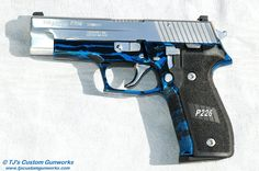 Sig Sauer P226 With Blue & Black Frame 1 - maybe Santa will get me what I want this year? ..... 3 years on naughty list, come on!!!