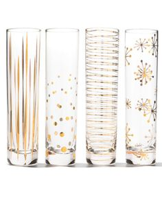 Glittery gold champagne flutes