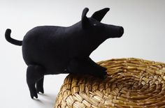 The black pig. $30.00, via Etsy.