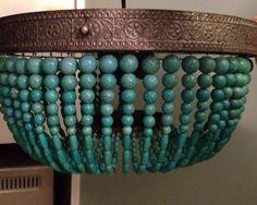 Custom Turquoise Flush Mount Light by IllumeHome on Etsy