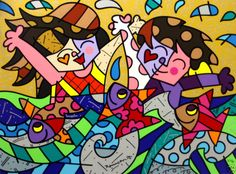 Romero Britto Handsigned And Numbered Limited Edition Serigraph ...