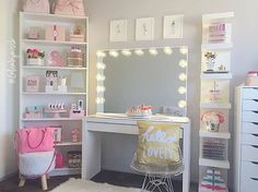"""Impressions Vanity Co. on Instagram: """"Hello lovely is right! Is this vanity heaven or what?@glambymissb's beyond gorgeous setup features our #ImpressionsVanityGlowPro"""""""