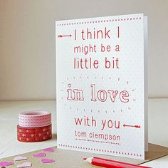 personalised 'little bit in love' card by clara and macy   notonthehighstreet.com