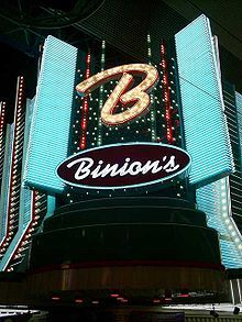 Binion's Gambling Hall & Hotel, formerly Binion's Horseshoe, is a casino in downtown Las Vegas, Nevada on the Fremont Street Experience, owned by TLC Casino Enterprises. The casino is named for its founder, Benny Binion, whose family ran it from its founding in 1951 until 2004.