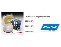 "We have Norton Double Sided Acrylic Foam Tape starting at  $15.16 until Aug 31, 2016: 05620 - 1/4"" $15.16 05621 - 1/2"" $32.39 05622 - 7/8"" $49.09 - Very High Bond Conformable Acrylic Foam Tape has adhesive both sides to promote excellent adhesion to a broad range of surfaces https://aadiscountauto.ca/special/666/double-sided-acrylic-foam-tape.html?utm_content=buffere10f8&utm_medium=social&utm_source=pinterest.com&utm_campaign=buffer #Norton #Double #Sided #Acrylic #Foam #Tape #NortonTap…"