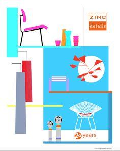 SF Modern Poster: Zinc Details Anniversary