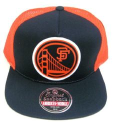 MLB American Needle San Francisco Giants Vintage Gatekeeper Flat-Billed Mesh Back Black Snapback Cap by MLB. $24.99. Officially Licensed by the MLB. Flat Bill, Mesh Backing. One size fits most - adjustable back. Five panel construction. Front Vintage Oversized Logo. The Original American Needle