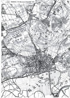 G. Sanderson ~ 1835 Nottingham Map, Wales, All Saints, Old Photos, City Photo, History, Genealogy, Robin, Bridge