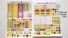 September Planner Sticker Set Pansies by MemoriesandPastimes