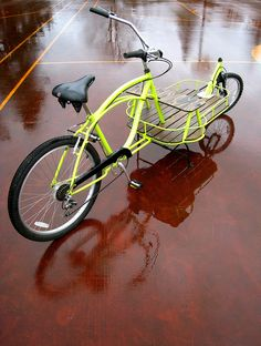 Yellow Cruiser Cargo Bike - tomscargobikes.com