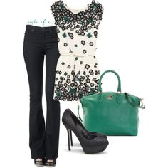 This is me.....cute shirt.....Would like it with a Red Bag or a Black n White bag,,,