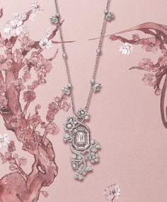 Bow Jewelry, High Jewelry, Luxury Jewelry, Pendant Jewelry, Jewelry Design, Jewellery, Blue Diamond Necklace, Blue Earrings, Diamond Pendant