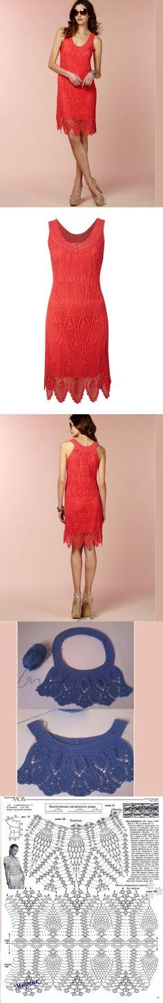 Croche da Anjinha: Lindo vestido em croche