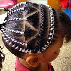 Mixed Kids Hairstyles, African Braids Hairstyles, Teen Hairstyles, Little Girl Hairstyles, Braided Hairstyles, Braids For Kids, Girls Braids, Braids For Long Hair, Ribbon Hairstyle