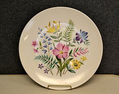 1950s Knowles Scandia Floral Plate