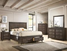 Shop for affordable Presley Platform Bedroom Set by Crown Mark at Urban Furniture Outlet. Rooms To Go Bedroom, Bedroom Sets, Bedroom Wall, Bedroom Furniture, Master Bedroom, Queen Bedroom, Urban Furniture, Furniture Storage, White Bedroom