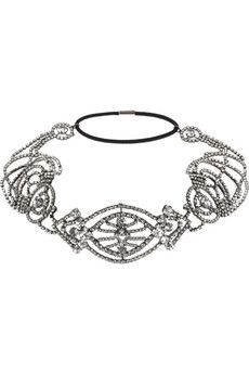 Jennifer Behr Swarovski crystal headband | NET-A-PORTER