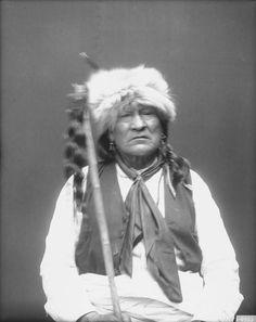 Lone Chief, Standing Buffalo Bull, Iron Whip, Walks With Effort I - Ponca - 1858 Iron Whip - Ponca - 1858 Standing L-R: John Baptiste Barnaby, (Interpreter) - Otoe/Pawnee; Charles LeClaire,