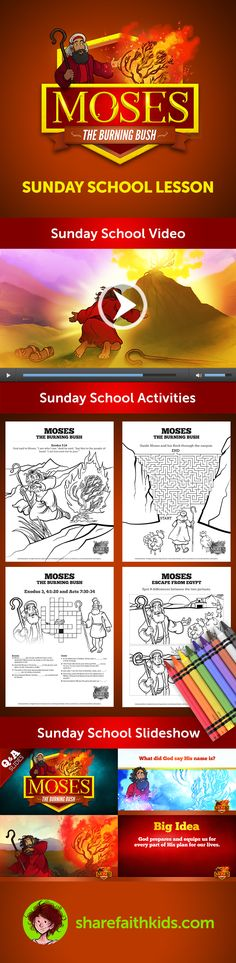Exodus 3 Moses And The Burning Bush Kids Bible Lesson
