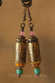 Beautifully Etched Bullet Casing Earrings   Ice by wingsnscales, $24.00