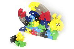 Puzzle Schnecke zum Spielen und Lernen. Ideal für Vorschulkinder und Schulanfänger!