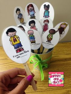 Line Up Buddies: helpful prompts to stagger dismissal so you don't have the kids all running for the door!