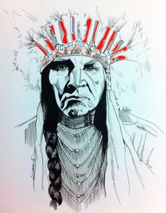 HACIENDO EL INDIO serie Sioux #illustration #mydraw #artdraw #sioux