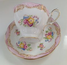 Your place to buy and sell all things handmade Cuppa Tea, Bone China Tea Cups, Rose Tea, Tea Cup Saucer, China Porcelain, Fine China, Tea Time, Tea Party, English China