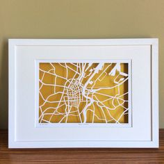 BBpapercuts make papercut maps of Cities, Towns and Villages. Us Map, Me On A Map, Ireland Map, Map Shop, First Wedding Anniversary, Irish Art, Custom Map, 60th Birthday, Belfast