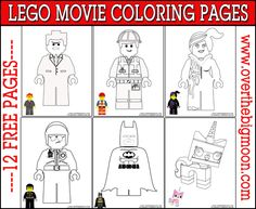 Lego Movie Coloring Pages Free Printable Lego Movie Coloring Pages. I love that they included a picture of the mini-figure in color at the bottom. The post Lego Movie Coloring Pages appeared first on Barbara Ritchie. Lego Movie Party, Lego Movie Birthday, Lego Film, Lego Movie Coloring Pages, Colouring Pages, Free Coloring, Coloring Book, Lego Activities, Craft Activities For Kids