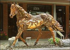 Amazing Rusty Finds - #searchlocated - Amazing horse sculpture, by John Lopez in South Dakota.