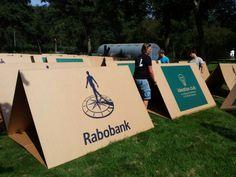 KarTent is a cardboard tent designed for music celebrations KarTent Design Ideas 1 Exterior Ideas