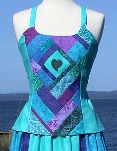 Aqua Patchwork Apron Top | Flickr - Photo Sharing!