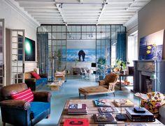 Interior industrial vintage en azul: la casa de Lacasa | Decorar tu casa es facilisimo.com