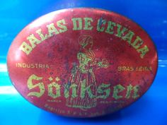 Lata De Balas De Cevada Sonksen Antiga Embalagem Bolso