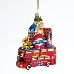 Kurt Adler Glass London City Ornament