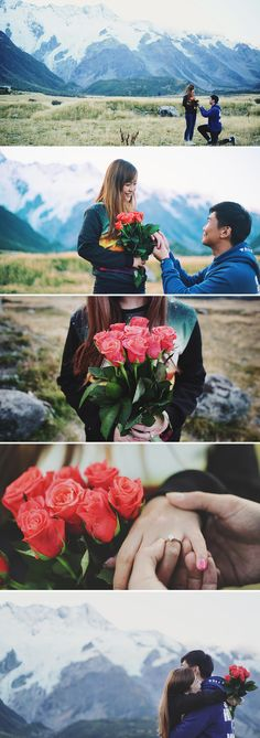 Beautiful proposal ideas and inspiration // Jay and Angeline's Surprise Proposal at Mighty Mount Cook, New Zealand