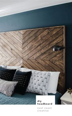 DIY Headboard EastCoastCreative More wood headboard king Massive Master Bedroom Makeover : The Weekender Series Custom Headboard, Headboard Designs, Headboard Ideas, Diy Wooden Headboard, Diy Headboards, Headboard Makeover, Reclaimed Wood Headboard, Diy Headboard With Lights, Diy Bed Headboard