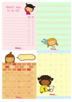FREE printable Pigtails Stationery | The Pigtails