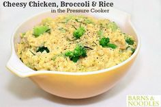 Cheesy Chicken Broccoli Rice - An easy, cheesy, creamy and delicious one-pot meal cooked in the pressure cooker and ready to eat in about 15 minutes. Tupperware Pressure Cooker Recipes, Easy Pressure Cooker Recipes, Pressure Cooking Today, Slow Cooker Recipes, Tupperware Recipes, Power Pressure Cooker, Pressure Cooker Chicken, Instant Pot Pressure Cooker, Broccoli Rice